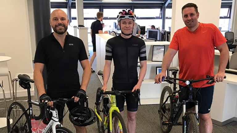 RG Charity Bike Ride - latest news from Cunniff Design, Leeds